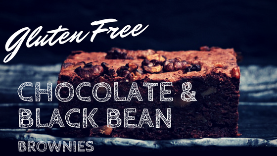 Gluten Free chocolate and black bean brownies